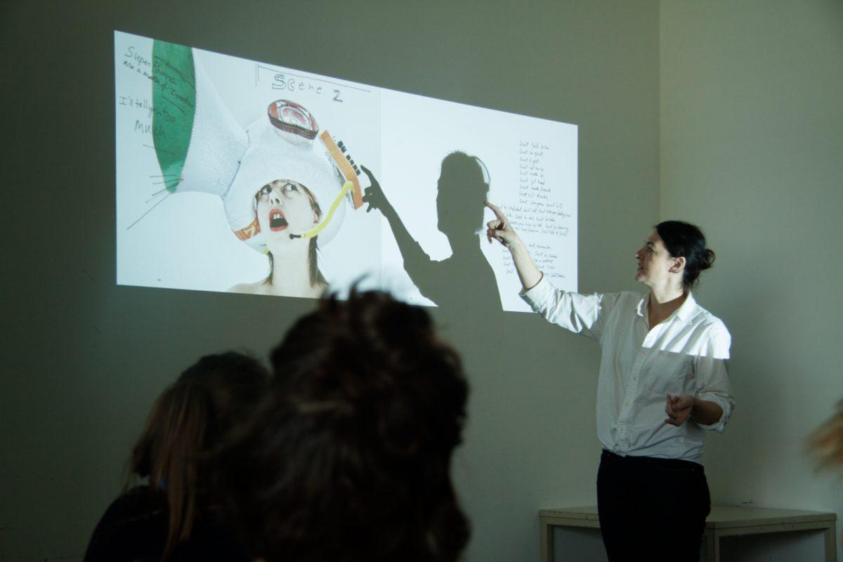 Amazonen, Vortrag Melissa Logan/Chicks on Speed, 2014