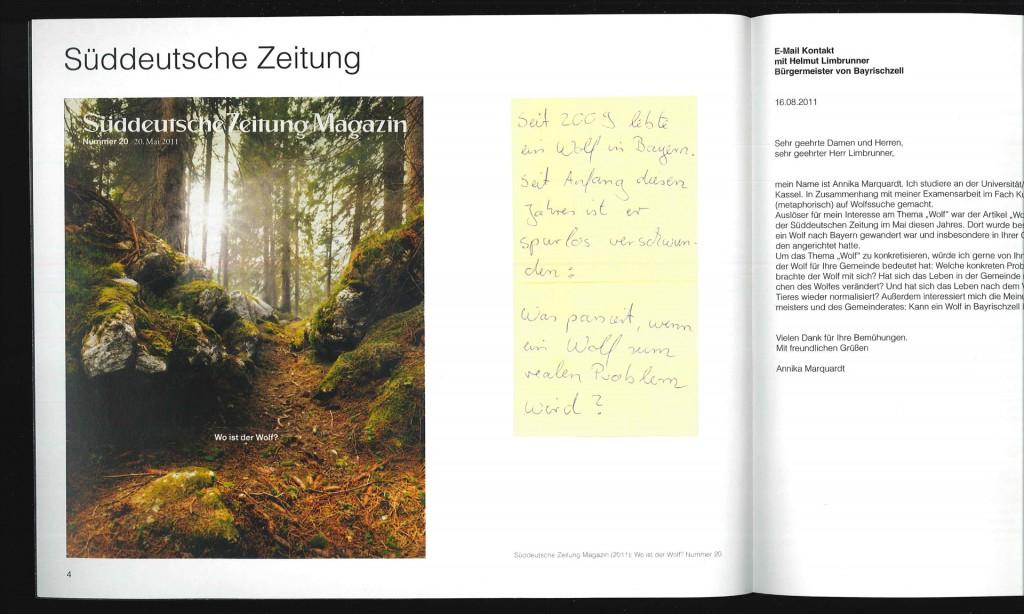 Annika Marquardt, Auszug aus dem Heft