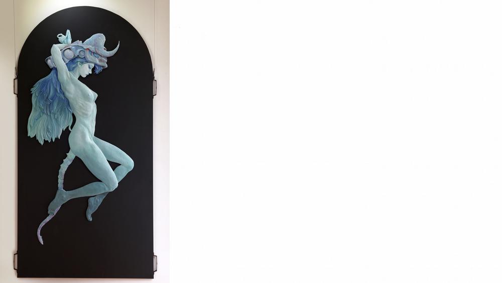 10 Kim Young kyun, Sivarouges, resin, wood, 180 X 90cm, 2011