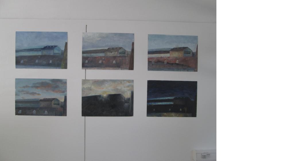 4 Wenti Sheng, Malerei, Dokumentation einer Fabrik zu verschiedenen Zeitpunkten, 2013